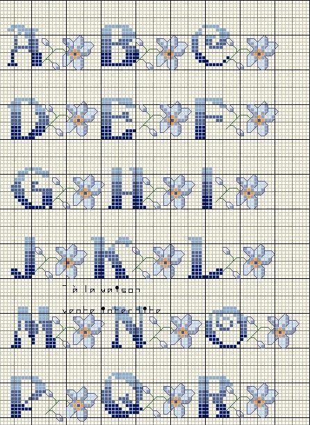 Grille pouint de croix analfabet page 7 - Alphabet au point de croix grille gratuite ...