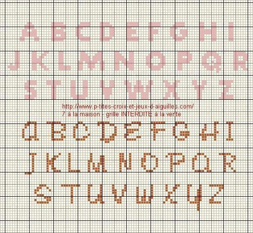 Alphabet - Grille point de croix lettre ...