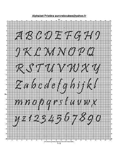Grille pouint de croix analfabet page 7 - Grille point de croix lettre ...