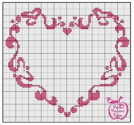 Grille point de croix love coeur page 4 - Grille point de croix gratuite coeur ...